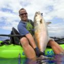 Jon Schwartz kayak fishing